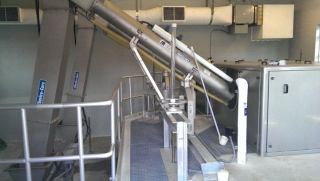 City of La Center Water Reclamation Facility - Rotary Drum, screen side