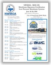 NWMOA Membrane Operators Certification - MOC-III: Low Pressure Membrane Systems - Grand Forks, ND - June 26-28, 2018 @ City of Grand Forks Public Works | Grand Forks | North Dakota | United States