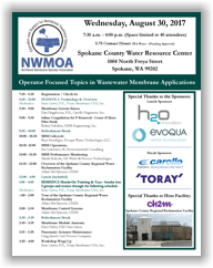NWMOA Workshop - Spokane, WA - August 30, 2017 @ Spokane County Water Resource Center | Spokane | Washington | United States