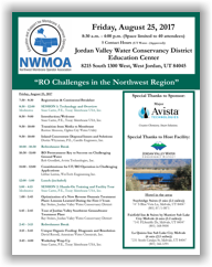 NWMOA Workshop - West Jordan, UT - August 25, 2017 @ Jordan Valley Water Conservancy District - Education Center | West Jordan | Utah | United States